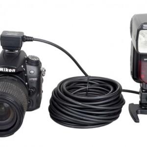 Кабель дистанционного управления для TTL вспышки Nikon, 10 м Phottix SC-28 (38322)