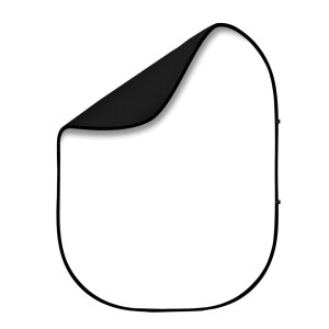 Фон 2в1 складной на каркасе 1,5 х 2м белый и черный Fotokvant BG-1520 Black White