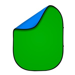 Фон 2в1 складной на каркасе 1,8 х 2,1м синий и зеленый хромакей Fotokvant BG-1821 Blue Green