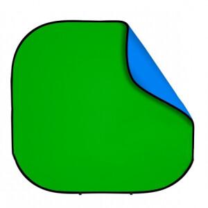 Фон 2в1 складной на каркасе 2,4 х 2,4м синий-зеленый хромакей Fotokvant BG-2424 Blue Green