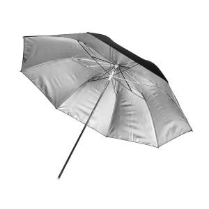Зонт серебряный на отражение 180 см Fotokvant U-180S