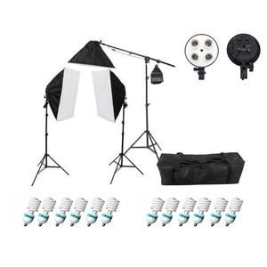 Комплект постоянного света люминесцентный 540Вт с журавлем Fotokvant FL-13 KIT