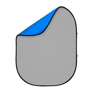 Фон 2в1 складной на каркасе 1,8 х 2,1м синий и серый хромакей Fotokvant BG-1821 Blue Gray