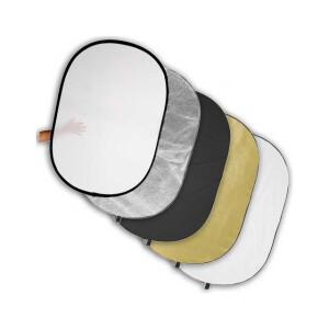 Светоотражатель 5в1 овальный 102х168 см Fotokvant R5-100170 отражатель