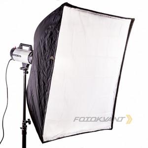 Быстрораскладной квадробокс 100х100 см с адаптером Bowens Fotokvant SBR-100100BW софтбокс