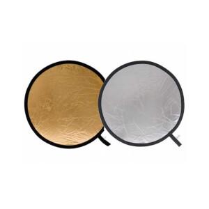 Светоотражатель 2 в 1 золото-серебро диаметром 60 см Fotokvant R2-60GS