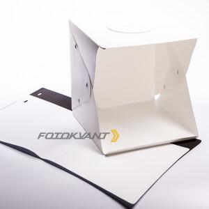 Фотобокс c LED освещением 30 см и 2-мя фонами Fotokvant BOX-30LED