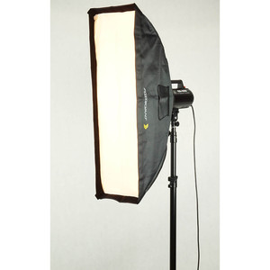 Быстрораскладной стрипбокс 30х120 см с адаптером Bowens Fotokvant SBR-30120BW софтбокс