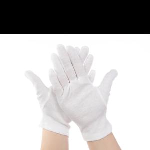 Перчатки для чистой работы белые хлопчатобумажные Fotokvant GLOVES-01
