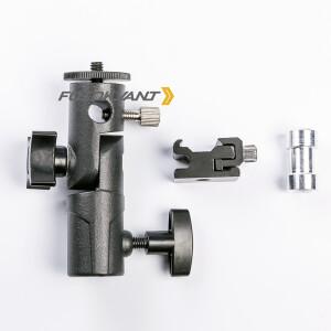 Кронштейн-крепление для накамерной вспышки и зонта на стойку Fotokvant RFLH-06