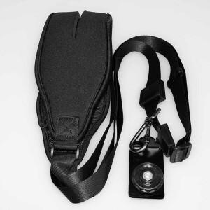 Ремень с площадкой для фотоаппарата черный неопреновый Fotokvant STR-34