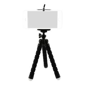 Мини-штатив на гибких ножках с держателем для смартфона черный Fotokvant TM-01 Black