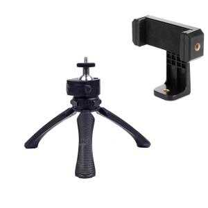 Мини-штатив с держателем для смартфона Fotokvant TM-04B+SM-CL3