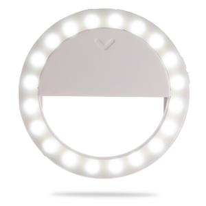 Селфи-кольцо для смартфона с аккумулятором диаметр 90 мм 3200-5600K белое Fotokvant LED-9A RING White