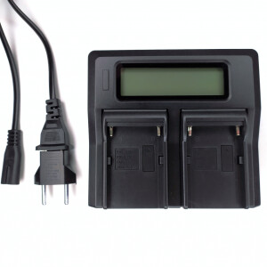 Зарядное устройство для двух аккумуляторов серии NP Fotokvant NP-F-CH2