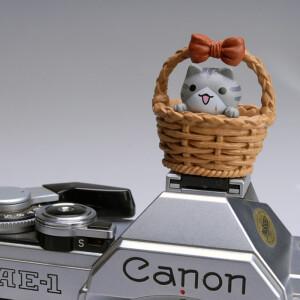 """Заглушка на горячий башмак """"котенок в корзине"""" серый Fotokvant PRZ-006"""