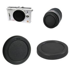 Комплект крышка задняя для объектива и байонета камеры для Lumix Fotokvant CAP-L-Kit