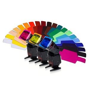 Комплект гелевых фильтров 20 шт. для накамерных вспышек Canon/Nikon/Yongnuo/Nissin Fotokvant GEL-02