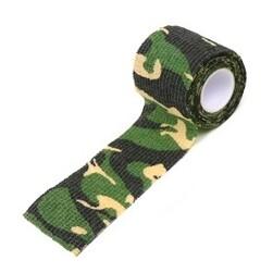 Водонепроницаемая клейкая лента камуфляжного цвета лесная зелень Fotokvant Tape-03 Khaki