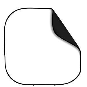 Фон 2в1 складной на каркасе 2,4 х 2,4м белый и черный Fotokvant BG-2424 Black White