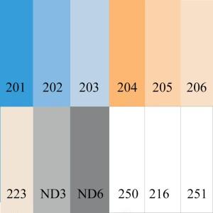 Набор №3 цветные гелевые фильтры 30x30 см Fotokvant Color Kit (8340)