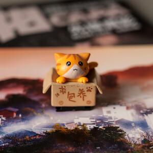 """Заглушка на горячий башмак """"котенок в коробке"""" рыжий Fotokvant PRZ-001"""