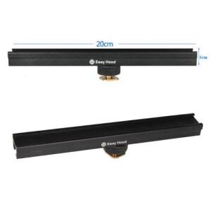 Кронштейн-рельс EasyHood 20 см на холодный башмак камеры Fotokvant RFLH-20
