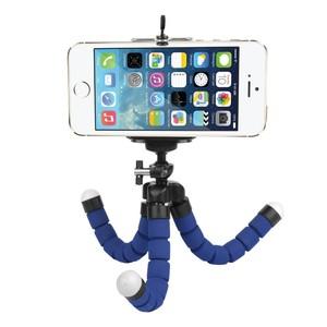 Мини-штатив на гибких ножках с держателем для смартфона синий Fotokvant TM-01 Blue