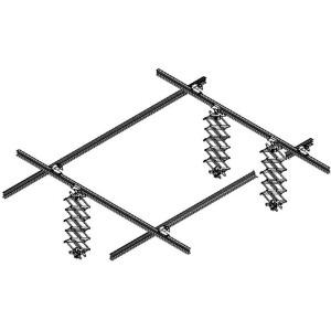 Потолочная система 3х3 м с 3 пантографами Fotokvant TRS-33x3