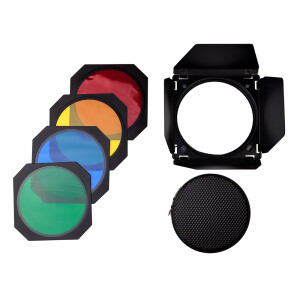 Комплект шторки с цветными фильтрами для рефлектора 18 см Fotokvant BD17