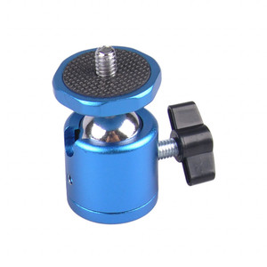 Шаровая голова для мини-штатива синяя Fotokvant HB-02 BLUE