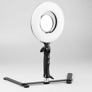Комплект кольцевой светодиодный осветитель 24Вт 5500К с зеркалом и настольной стойкой Fotokvant LED-20 RING Kit