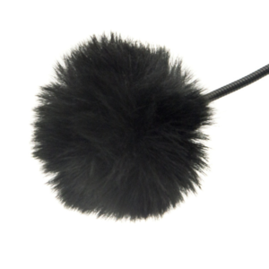 Меховая ветрозащита для петличного микрофона Fotokvant MZ-M Black