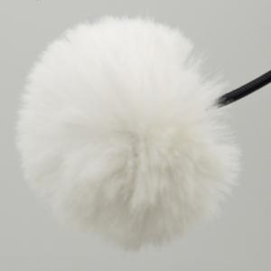 Меховая ветрозащита для петличного микрофона Fotokvant MZ-M White