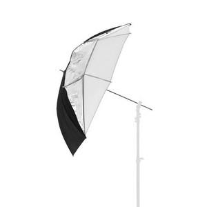 Fotokvant UC-101WST зонт комбинированый просвет-отражение серебро белый 101см