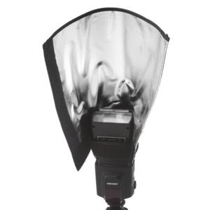 Гибкий отражатель для накамерной вспышки с серебристой поверхностью Fotokvant CFR-01
