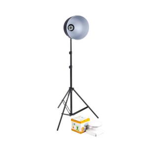 Комплект рефлектор 18 см с патроном с лампой и стойкой Fotokvant RLH-1-18 KIT