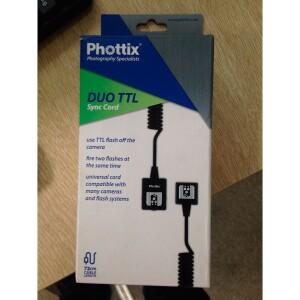 Кабель 2 м для управления двумя TTL вспышками Phottix (38315) DUO TTL