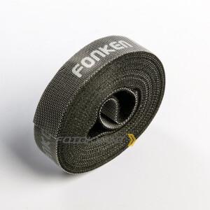 Текстильная лента-липучка для организации кабелей в студии черная Fotokvant Tape-26B