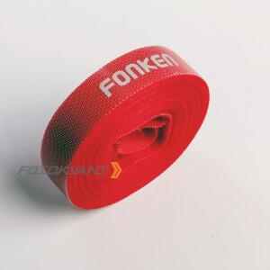 Текстильная лента-липучка для организации кабелей в студии красная Fotokvant Tape-27R