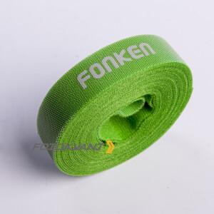 Текстильная лента-липучка для организации кабелей в студии зеленая Fotokvant Tape-28G
