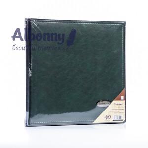 Фотоальбом кожаный в подарочной коробке изумрудный 40 белых страниц Albonny AML-2732-40--G