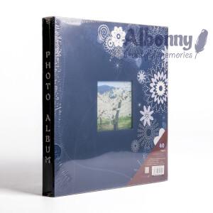 Фотоальбом синий 40 белых страниц Albonny AMP-2732-40-B
