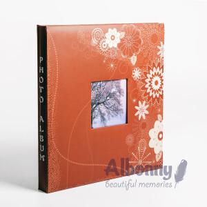 Фотоальбом терракотовый 40 белых страниц Albonny AMP-2732-40-R