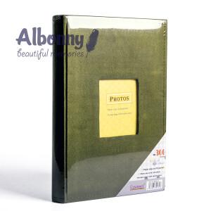 Фотоальбом замшевый зеленый с кармашками 300 фото Albonny APV-2232-100--G
