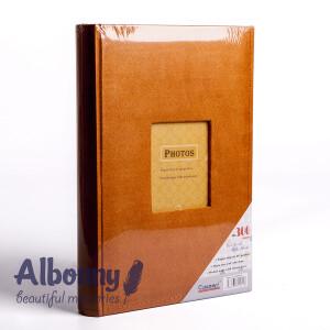 Фотоальбом замшевый горчичный с кармашками 300 фото Albonny APV-2232-100--M