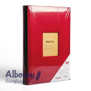Фотоальбом замшевый красный с кармашками 300 фото Albonny APV-2232-100--R