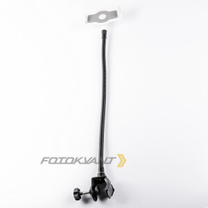 Гибкая штанга 50 см с струбциной 35 мм для установки планшета Fotokvant FLX-04