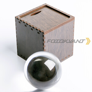Lensball сфера хрустальная 100 мм в подарочной деревянной коробке Fotokvant PRS-008