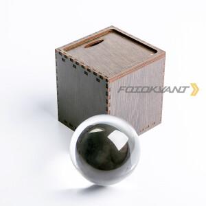 Lensball сфера хрустальная 80 мм в подарочной деревянной коробке Fotokvant PRS-009